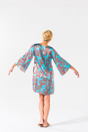 Ice Cube Dress - Turquoise Coral