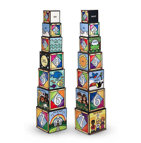 Melissa & Doug® Days of Creation Stacking and Nesting Blocks