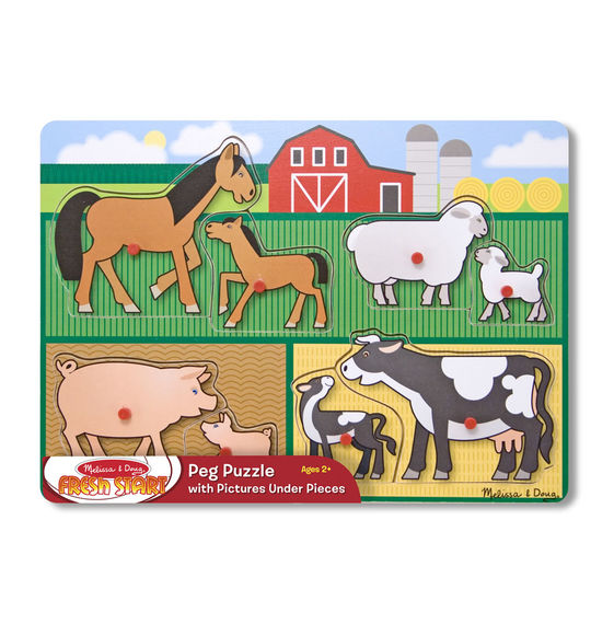 Melissa & Doug® Farm Peg Puzzle - 8 pieces