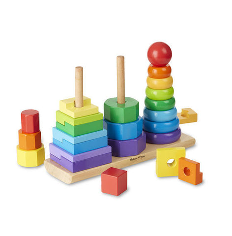 Melissa & Doug® Geometric Stacker Toddler Toy