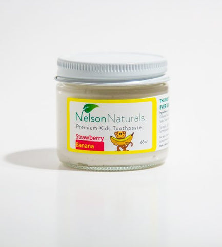 Nelson Naturals Kids Remineralizing Toothpaste Strawberry Banana