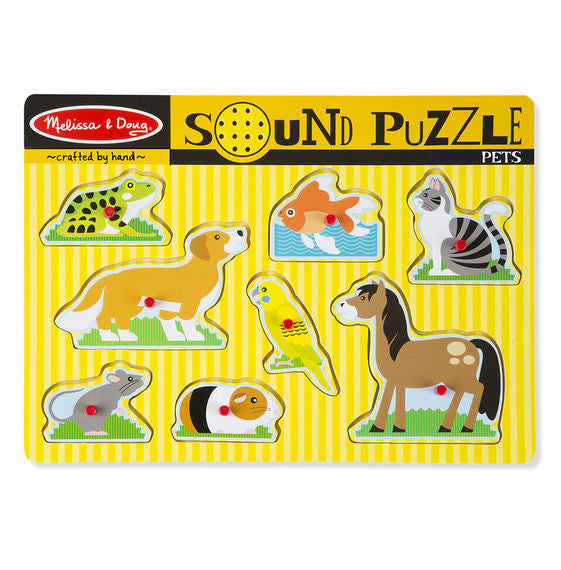 Melissa & Doug® Pets Sound Puzzle - 8 Pieces