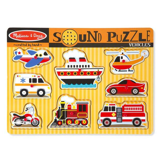 Melissa & Doug® Vehicles Sound Puzzle - 8 Pieces