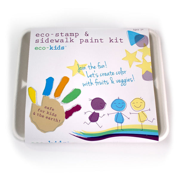 eco-kids® eco-stamp & sidewalk paint kit