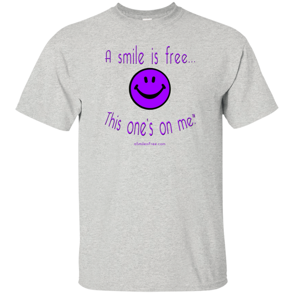 G200 Ultra Cotton T-Shirt Purple Smile