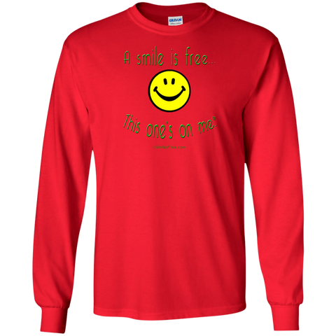 G240 LS Ultra Cotton T-Shirt Smile Rasta/Africa YGR