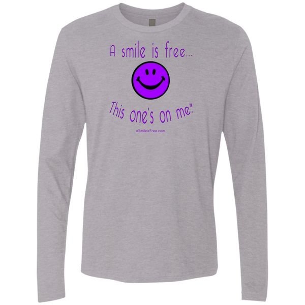 NL3601 Men's Premium LS Purple Smile
