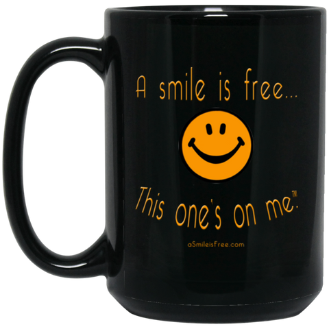 BM15OZ 15 oz. Black Mug Pumpkin Smile