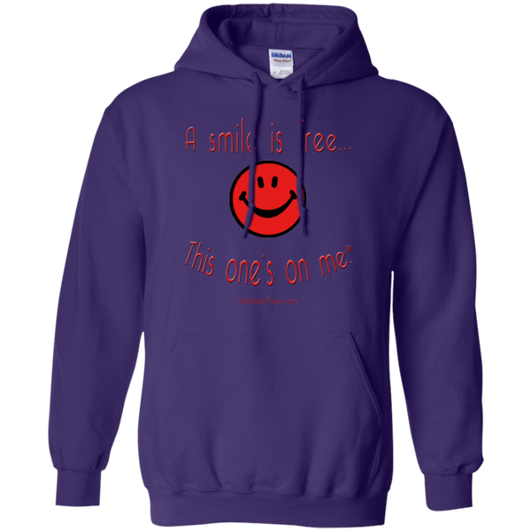 G185 Pullover Hoodie 8 oz. Red Smile