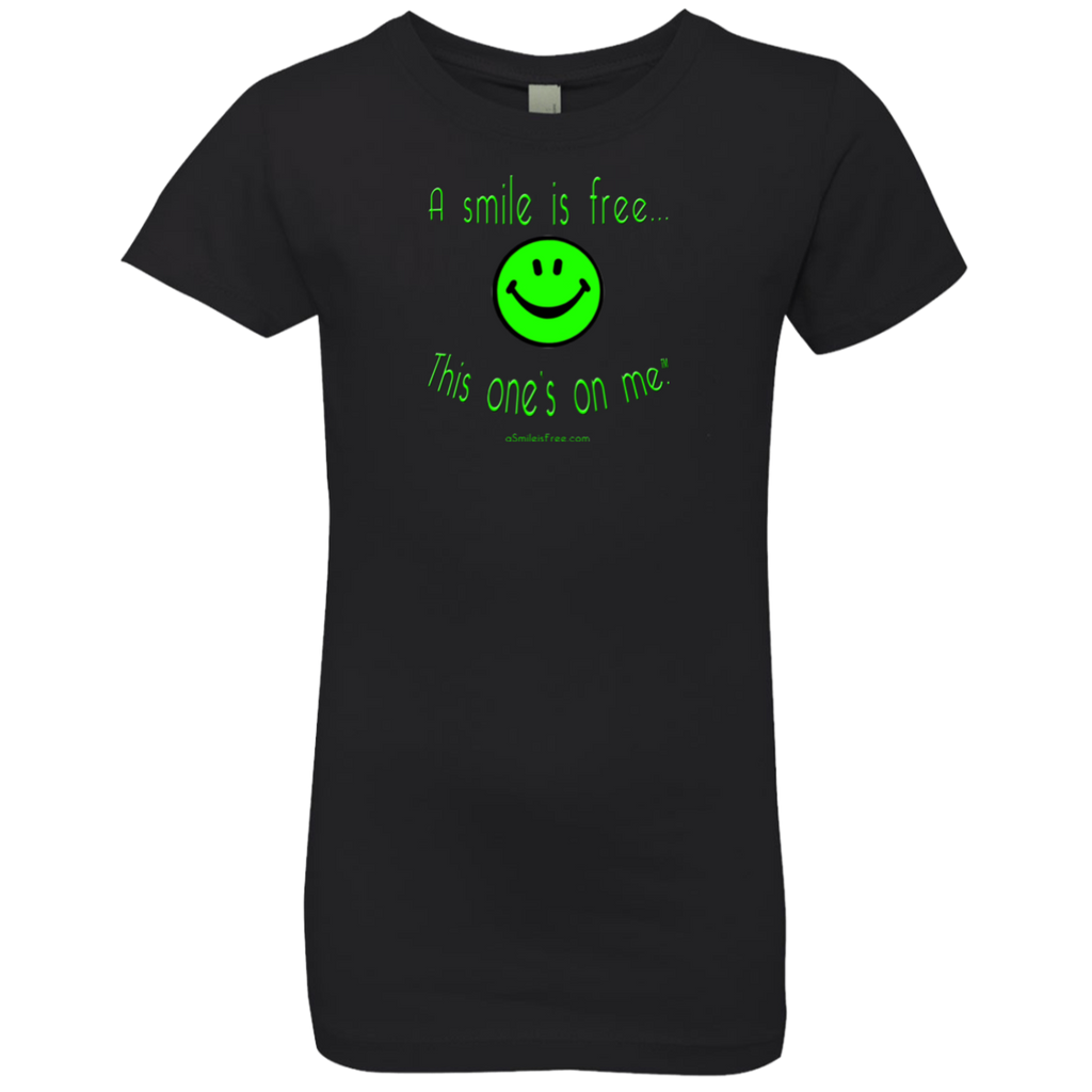 NL3710 Girls' Princess T-Shirt Neon Green Smile