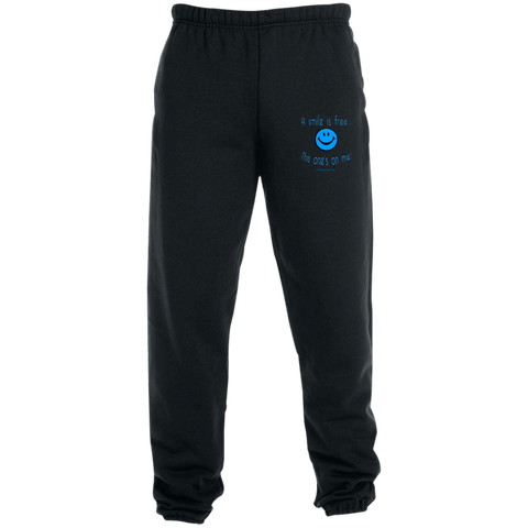 4850MP Sweatpants with Pockets Blue Smile