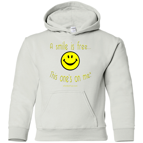G185B Youth Pullover Hoodie Yellow Smile
