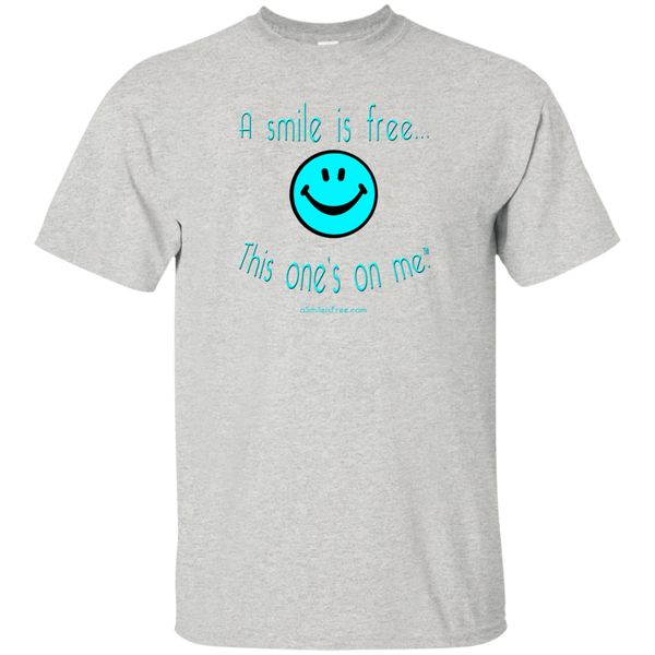 G200 Ultra Cotton T-Shirt Aqua Smile