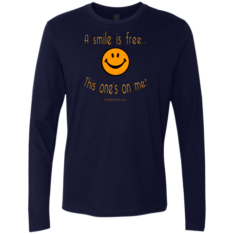 NL3601 Men's Premium LS Pumpkin Smile
