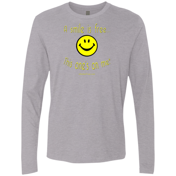 NL3601 Men's Premium LS Yellow Smile
