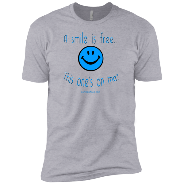 NL3600 Premium Short Sleeve T-Blue Smile