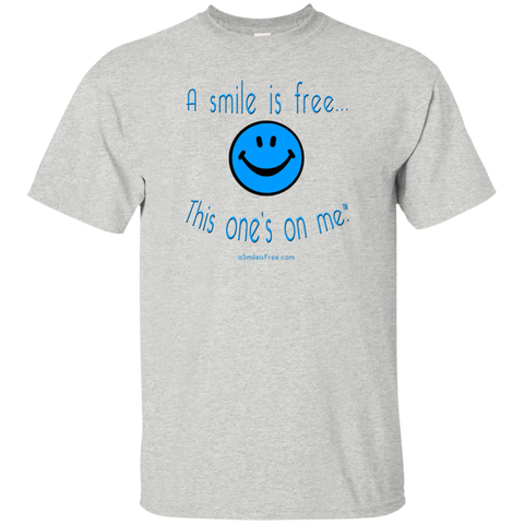 G200 Ultra Cotton T-Shirt Blue Smile