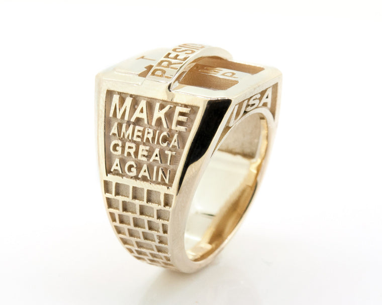 Trump MagaRing Mens/Womens 14KT Yellow Gold