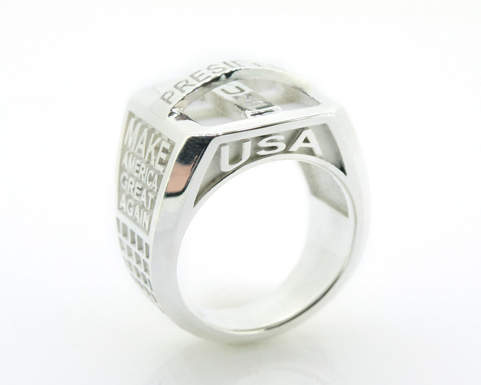 Trump MagaRing Womens Sterling Silver