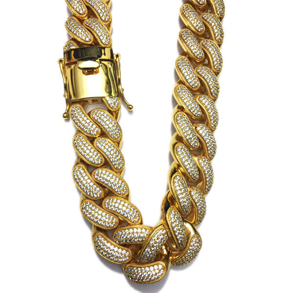 Iced Out Cuban Link Chain Miami Jumbo 30mm Bijouterie Gonin
