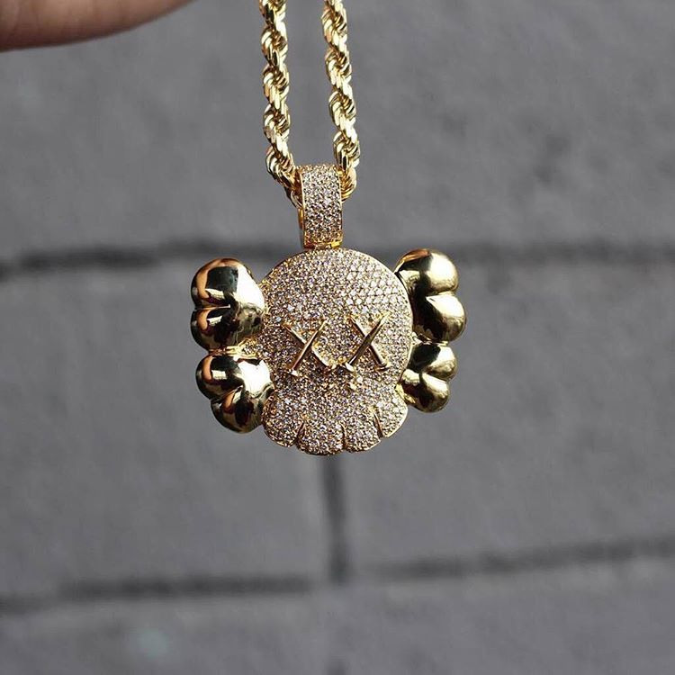 KAWS necklace pendant chain ifandco diamond