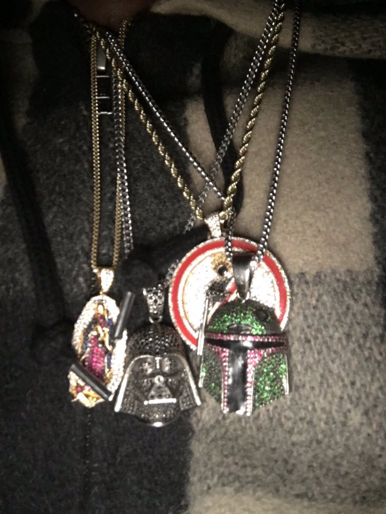Lady of Guadalupe Virgin Mary chain necklace as seen on Travis Scott