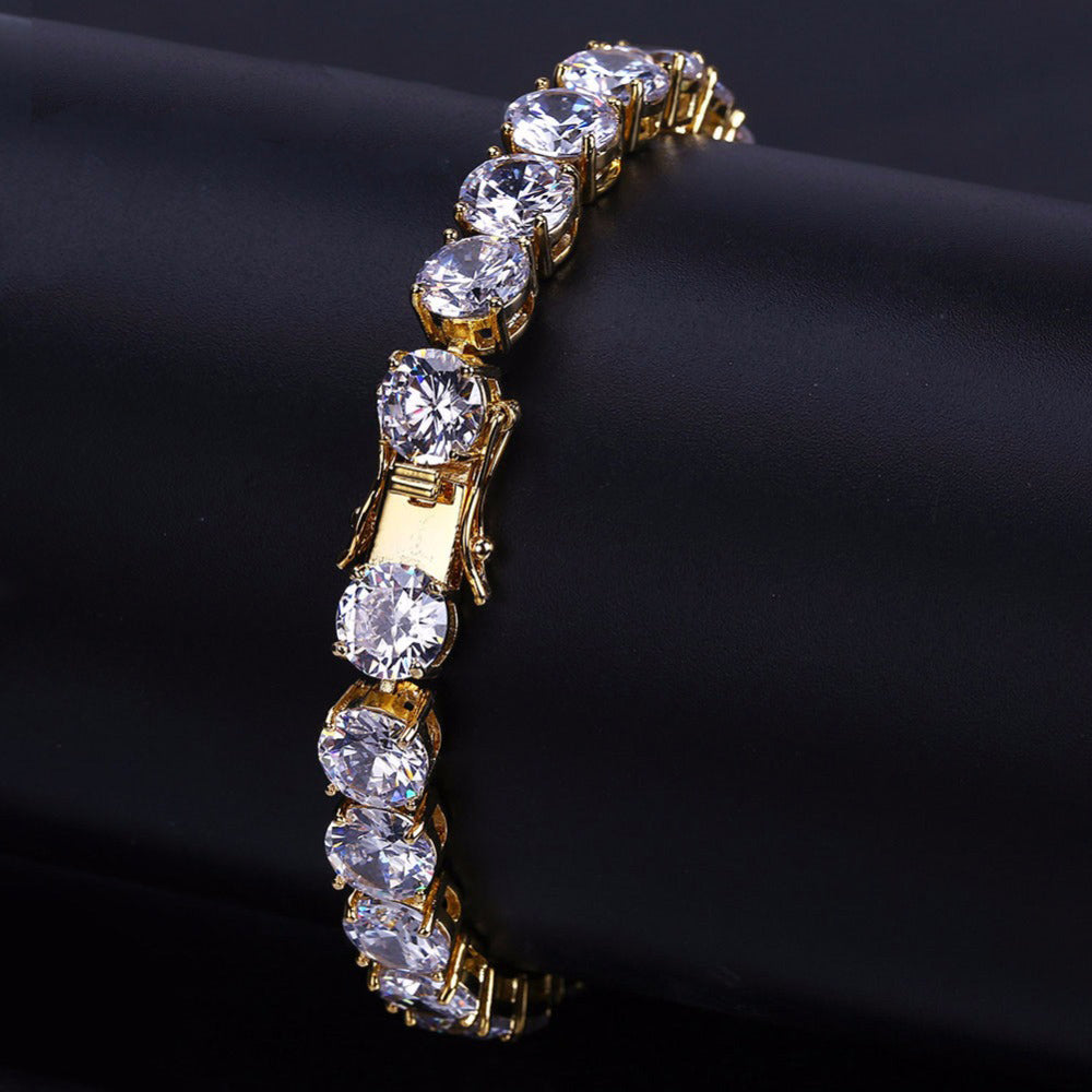 10mm tennis link chain bracelet diamond vvs yellow gold white gold ifandco shopgld