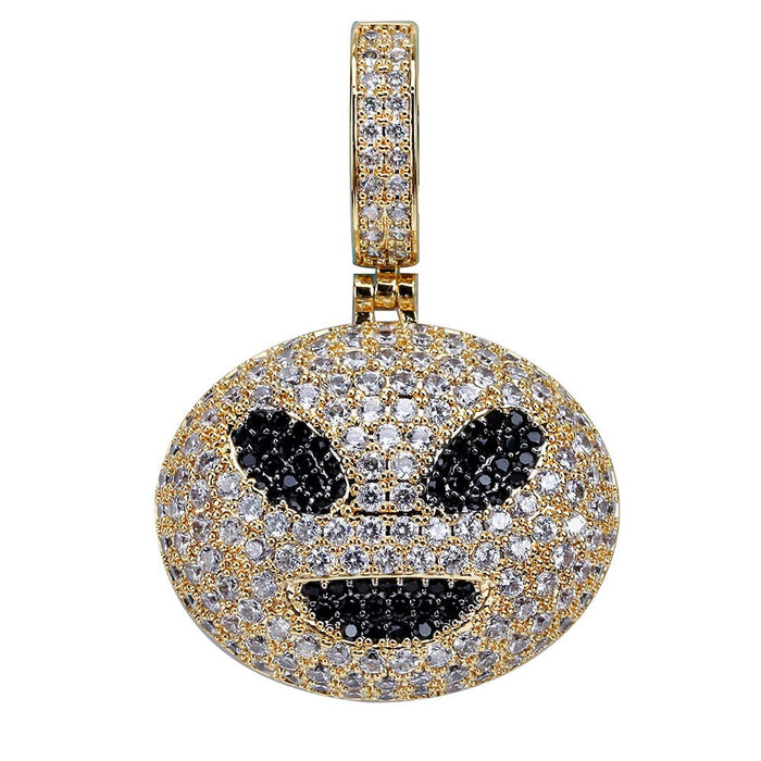 14K Gold Iced Alien Emoji pendant & necklace with free matching chain included