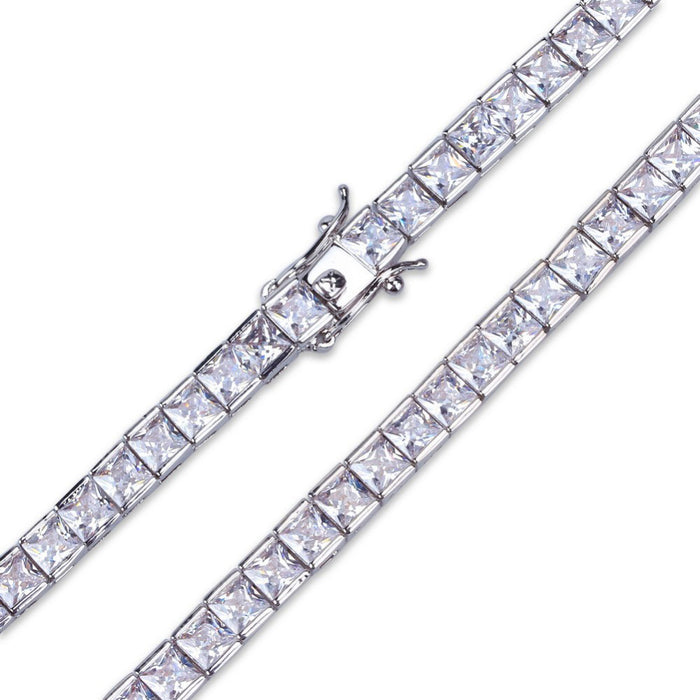 tennis link 4mm bracelet princess cut diamond chain bracelet shopgld