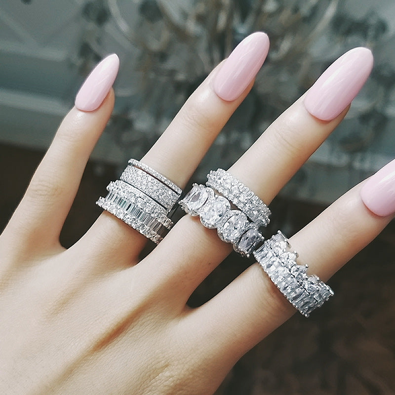 Kylie Jenner signature eternity band ring in oval kylie ring diamond