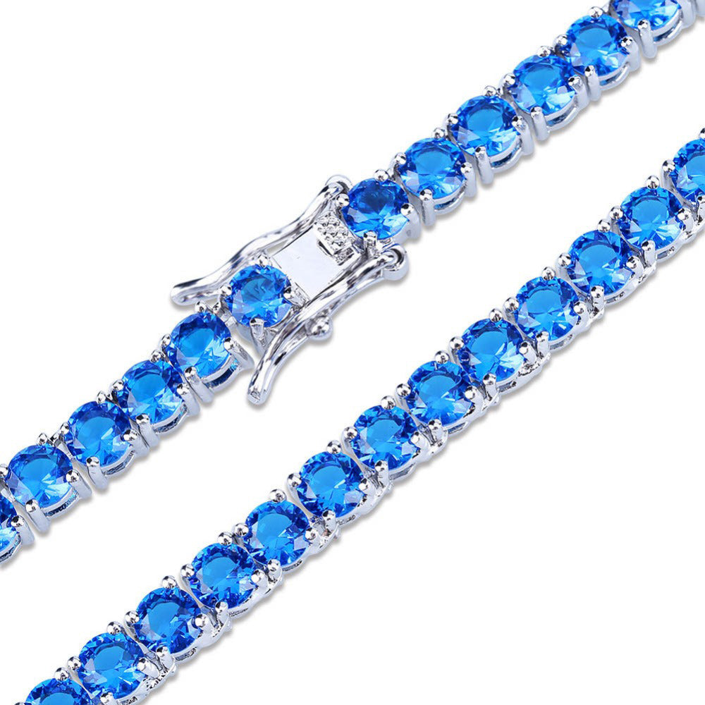sapphire tennis link chain necklace bracelet vvs princess cut diamond shopgld yellow gold white gold
