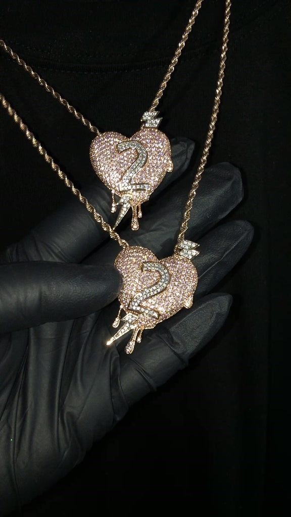 Lil Uzi Vert Cops Iced Out Luv Is Rage 2 Chain diamond necklace chain