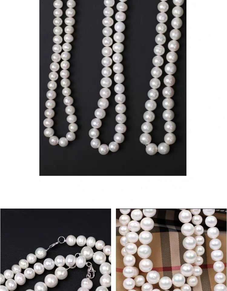 Asap rocky pearl necklace freshwater pearls
