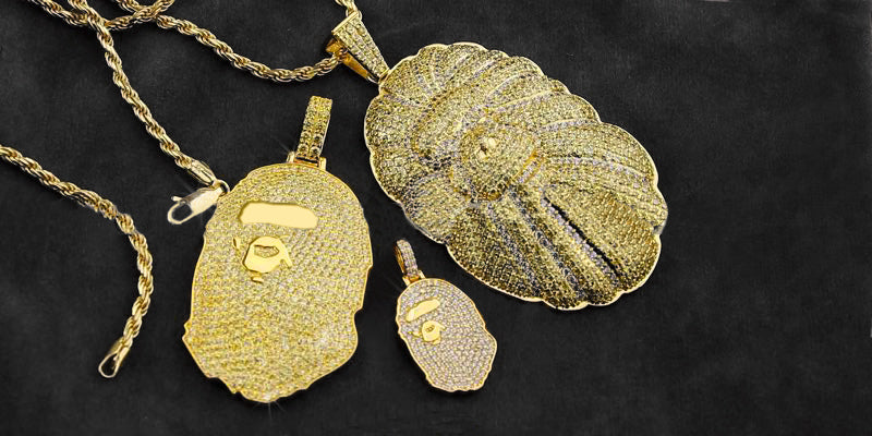 Bathing ape Bape Necklace Pendant as seen on travis scott, nigo and Pharrell