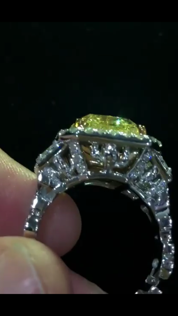 cactus jack ring gemstone canary 15-carat diamond travis scott drops astroworld