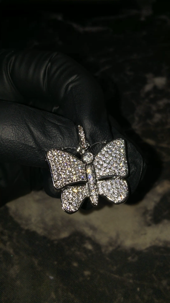 Micro Butterfly Pendant Necklace Chain As Seen On Playboi