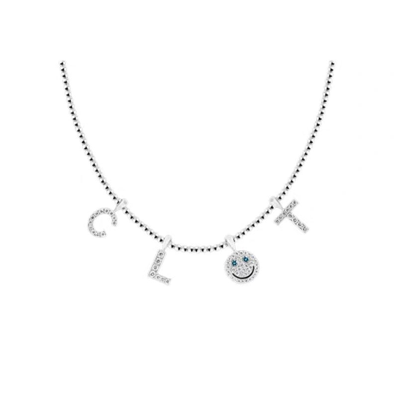 eyefunny custom letter diamond alphabet necklace chain