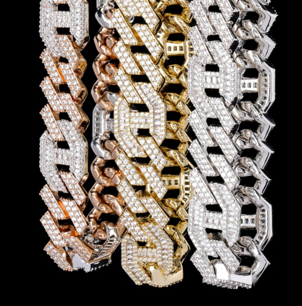 chaine d'ancre hermes curb cuban link combo necklace chain diamond gold vvs ifandco shopgld travis scott migos