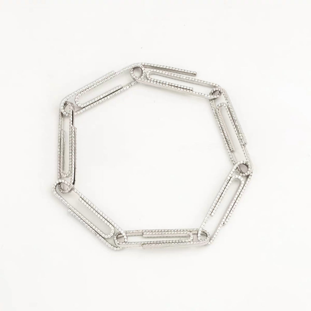 paper clip virgil abloh offwhite alike necklace chain link diamond travis scott silver white gold buy