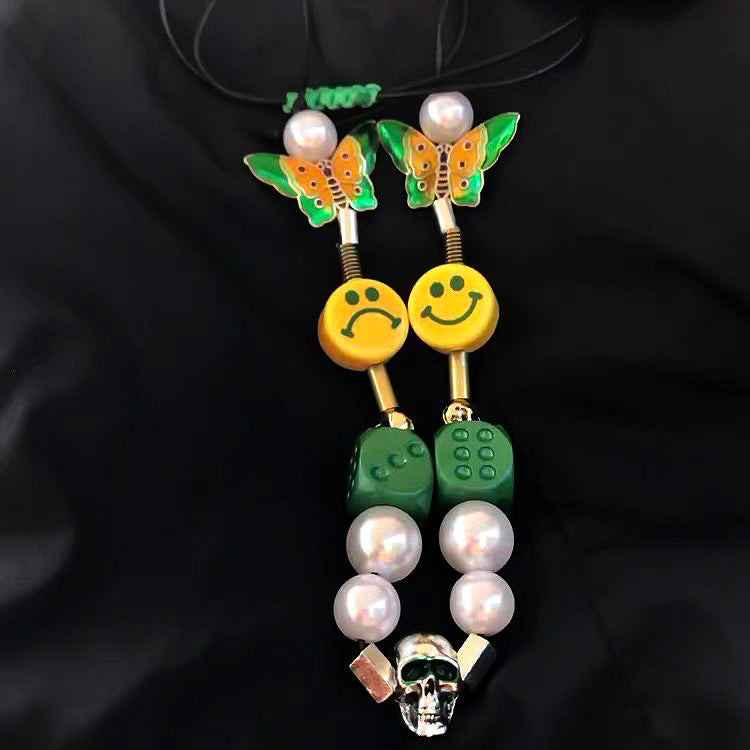 asap rocky jewelry pearl necklace dice skull chain choker playboi carti vlone