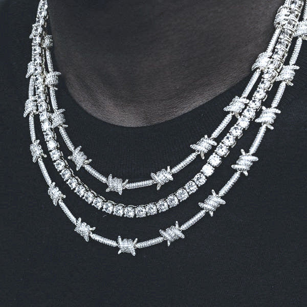 Iced Barbed Wire Necklace link chain shopgld gldshop ifandco travis scott