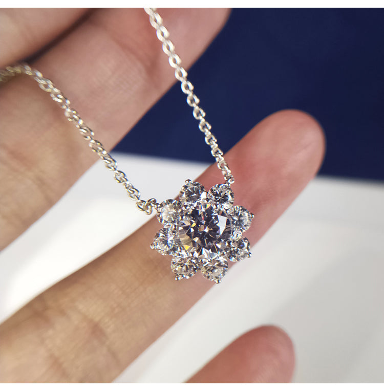Sunflower by Harry Winston diamond pendant necklace chain vvs engagement ring