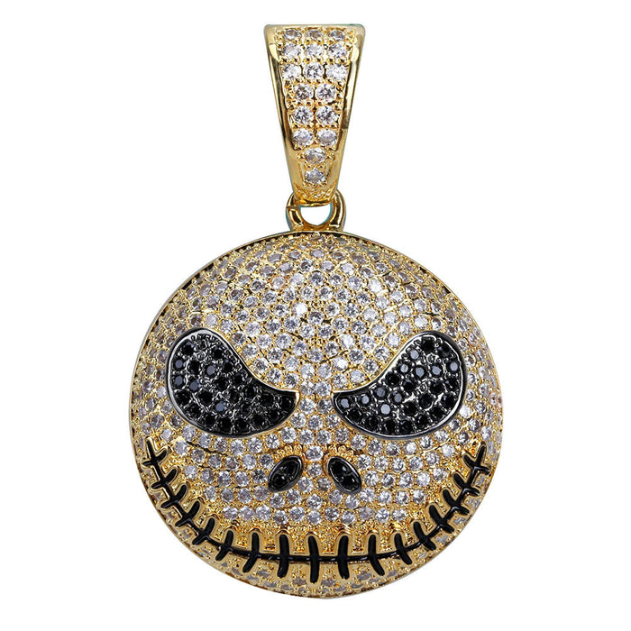 Jack skellington pendant & necklace with free matching chain included.