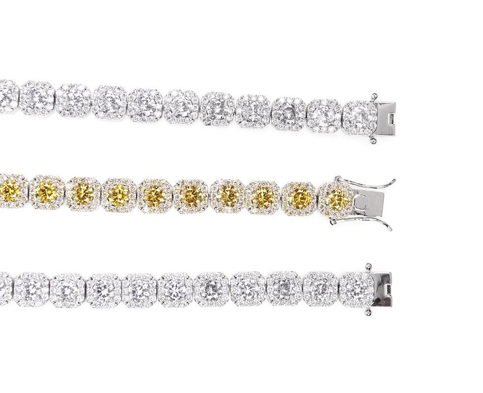 travis canary halo one row scott solitaire tennis link bracelet out with kylie jenner