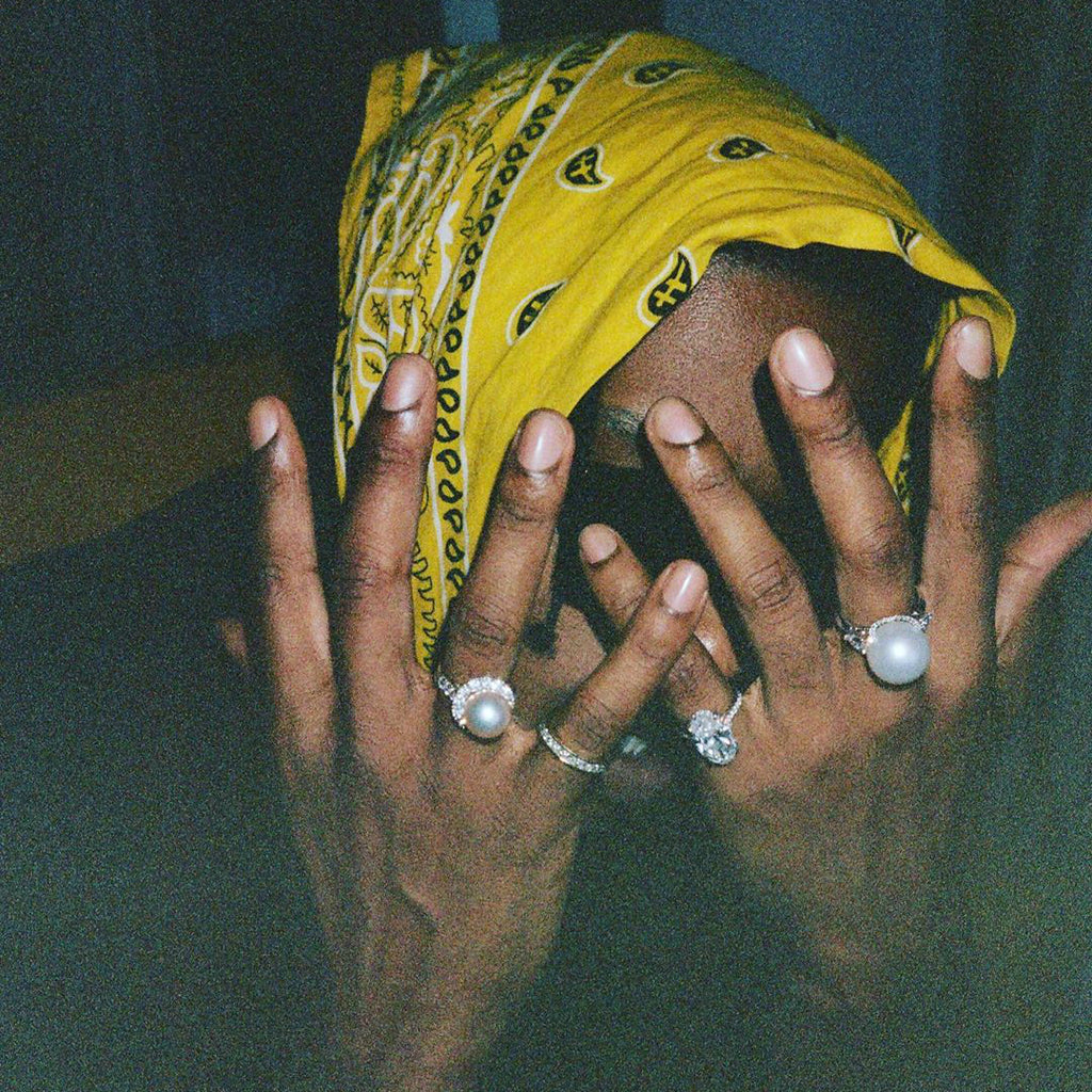asap rocky pearl ring diamond custom chain jewelery free matching chain