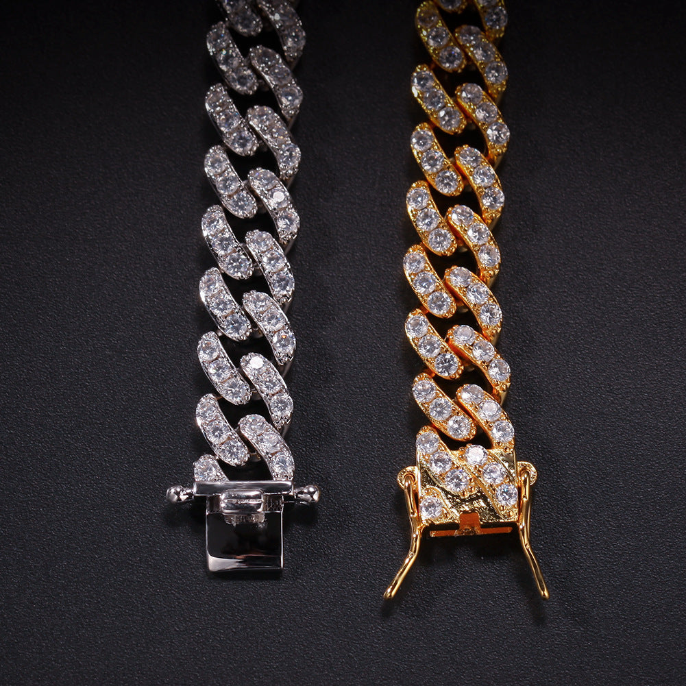 8mm cuban link ben baller ifandco vvs diamond necklace chain shopgld travis scott kylie jenner stormi
