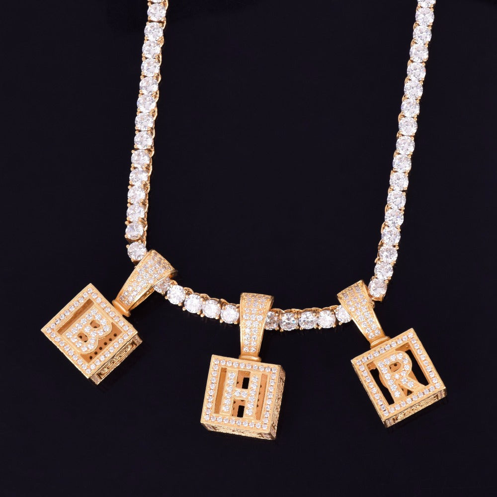 affordable hip hop custom jeweler iced out baby block letter pendant necklace chain shopgld