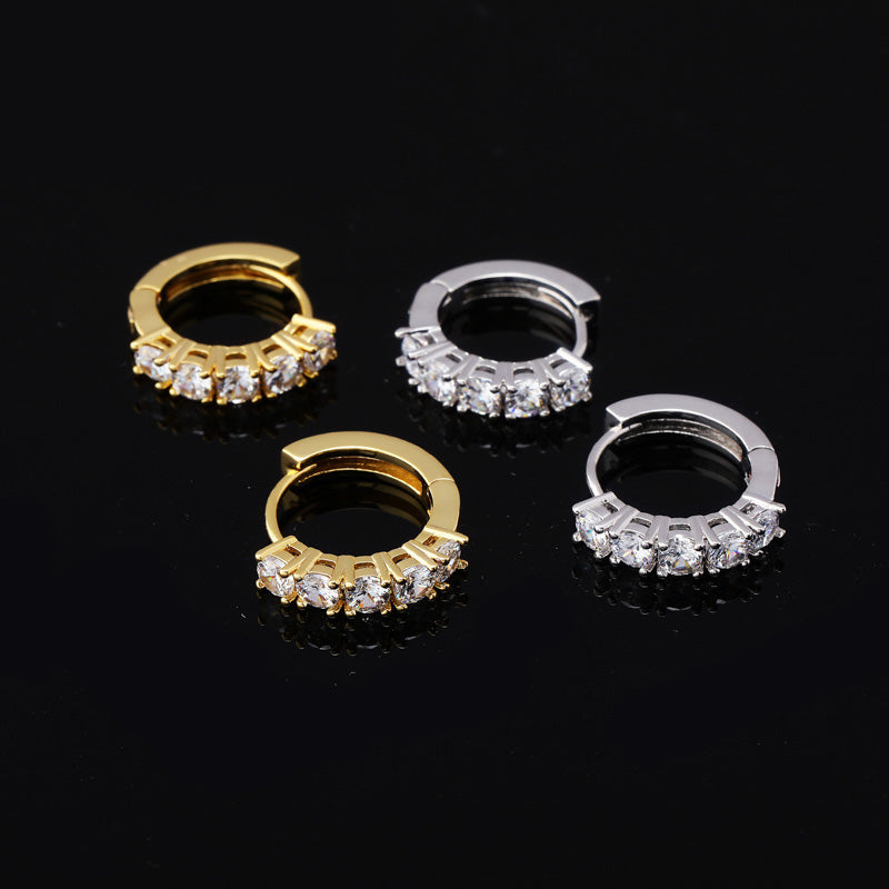 eternity fully iced hoop earrings ifandco shopgld high end luxury jewelry diamond