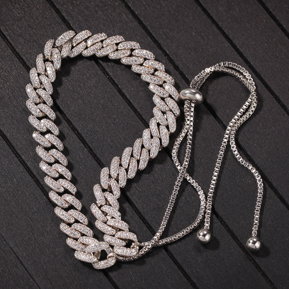 9mm cuban link chain adjustable female cardi b kylie jenner vvs diamond ifandco luxury handbag jewellery