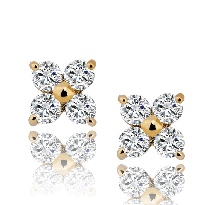 diamond stud earrings yellow gold vvs ifandco custom jewelers